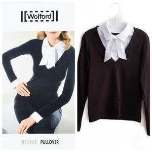 Wolford Rome Pullover - Detachable Collar Size L